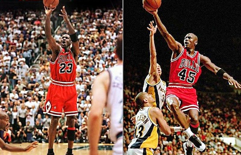 23 o 45? I numeri di maglia di Michael Jordan