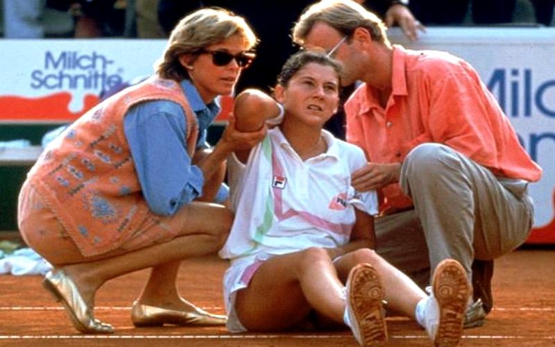 L'aggressione alla tennista Monica Seles nel 1993