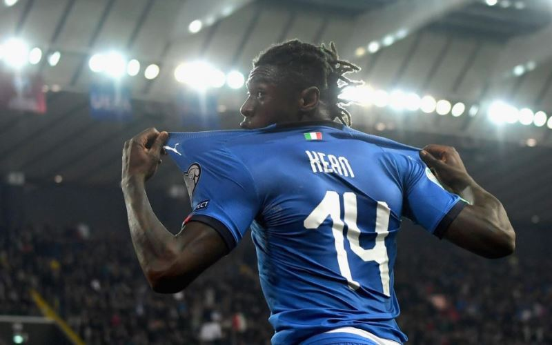 Moise Kean segna anche con l'Italia. Il millenial che frantuma i record