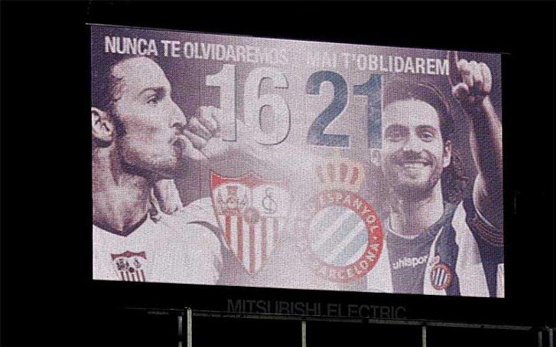 Minuto 16 e 21: Siviglia ed Espanyol si fermano per ricordare Puerta e Jarque