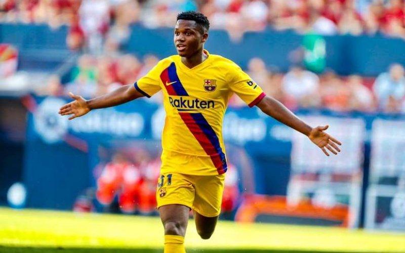 Ansu Fati macina record: è il più giovane marcatore in Champions di sempre