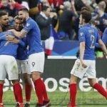 Esultanza dei giocatori Francesi