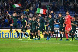 Esultanza della nazionale italiana