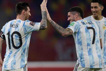 De Paul con la maglia dell'Argentina è vicinissimo all'Atletico Madrid