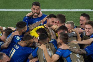 Italia che gioca con il Galles Euro 2020