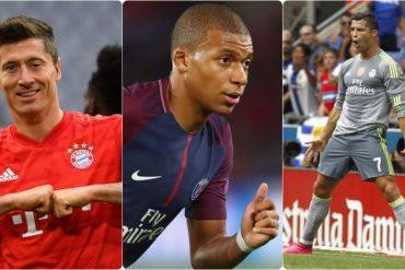 Lewandowski Mabappé e CR7 che sono i tre attaccanti più forti del mondo