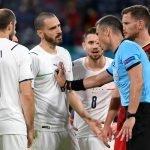 Italia che affronta la Spagna a Euro 2020