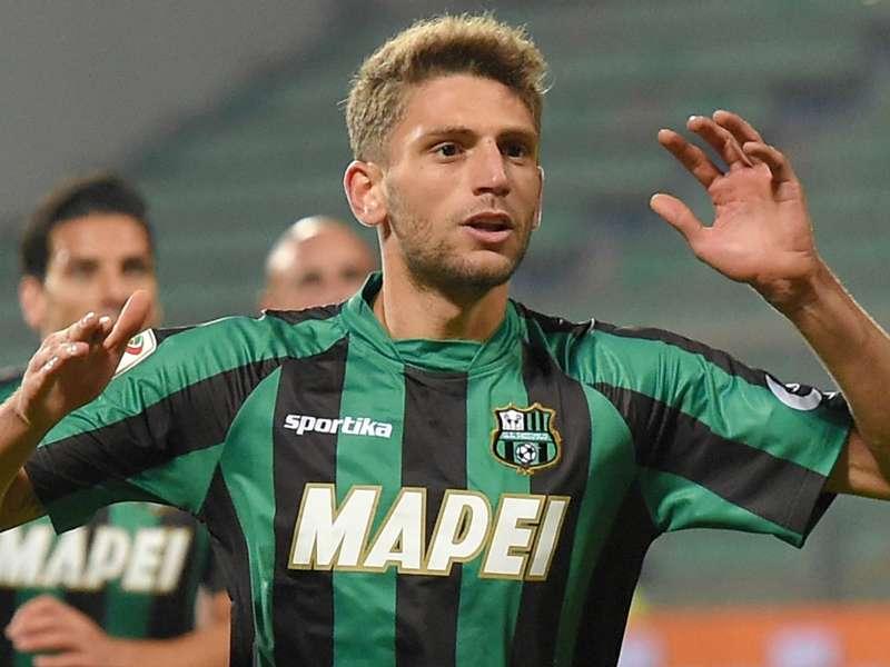 Berardi che gioca la partita del 21 settembre di Serie A contro l'Atalanta