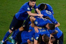 Italia che gioca contro la Bulgaria per le qualificazioni a Qatar 2022