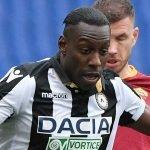Okaka che lascia l'Udinese