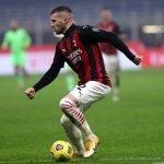 Rebic che giochera nella gara Milan Juve di Serie A